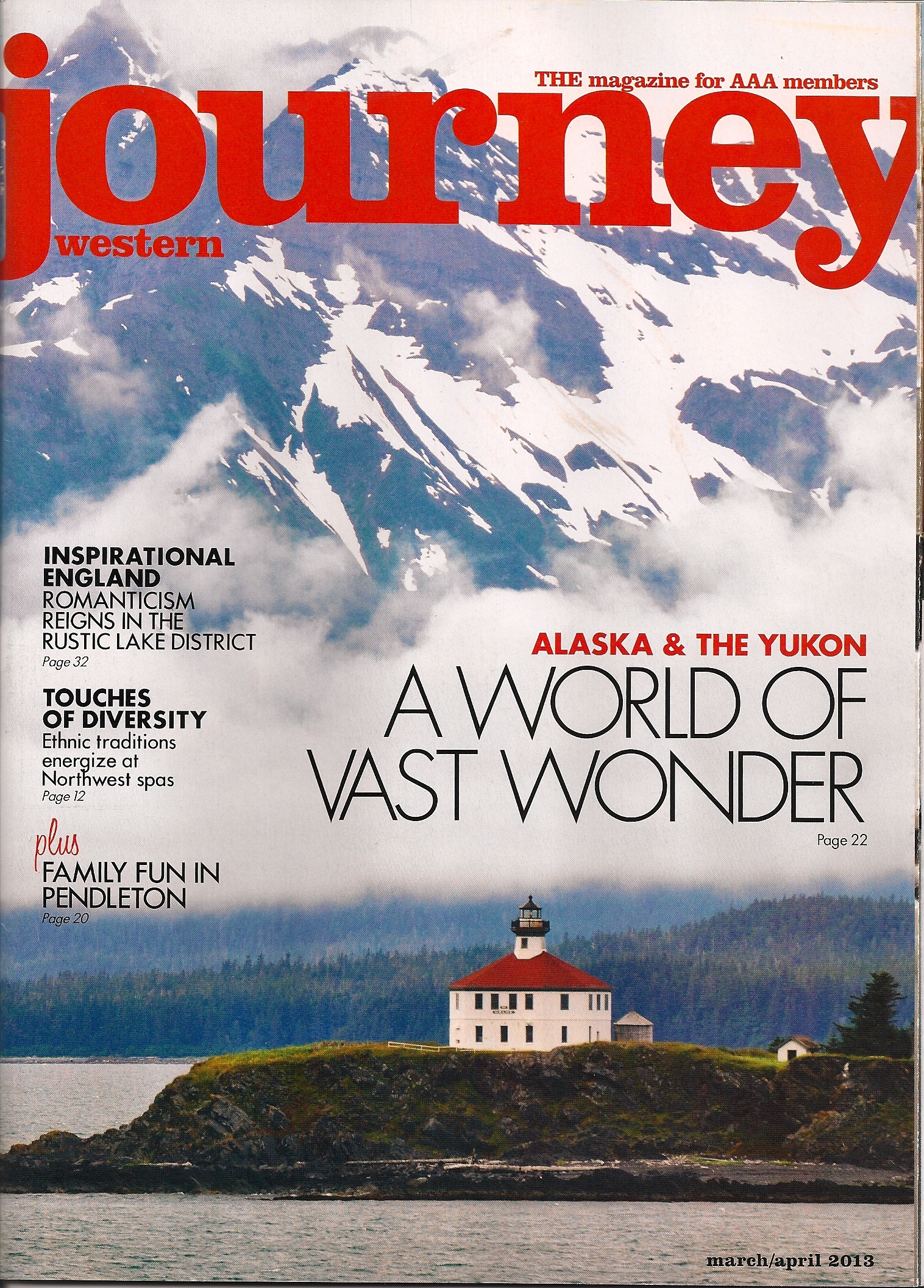Journey Magazine (USA) April 2013 cover photo and article