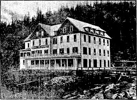 Scenic Hot Springs Hotel circa 1905 as seen in The Seattle Times