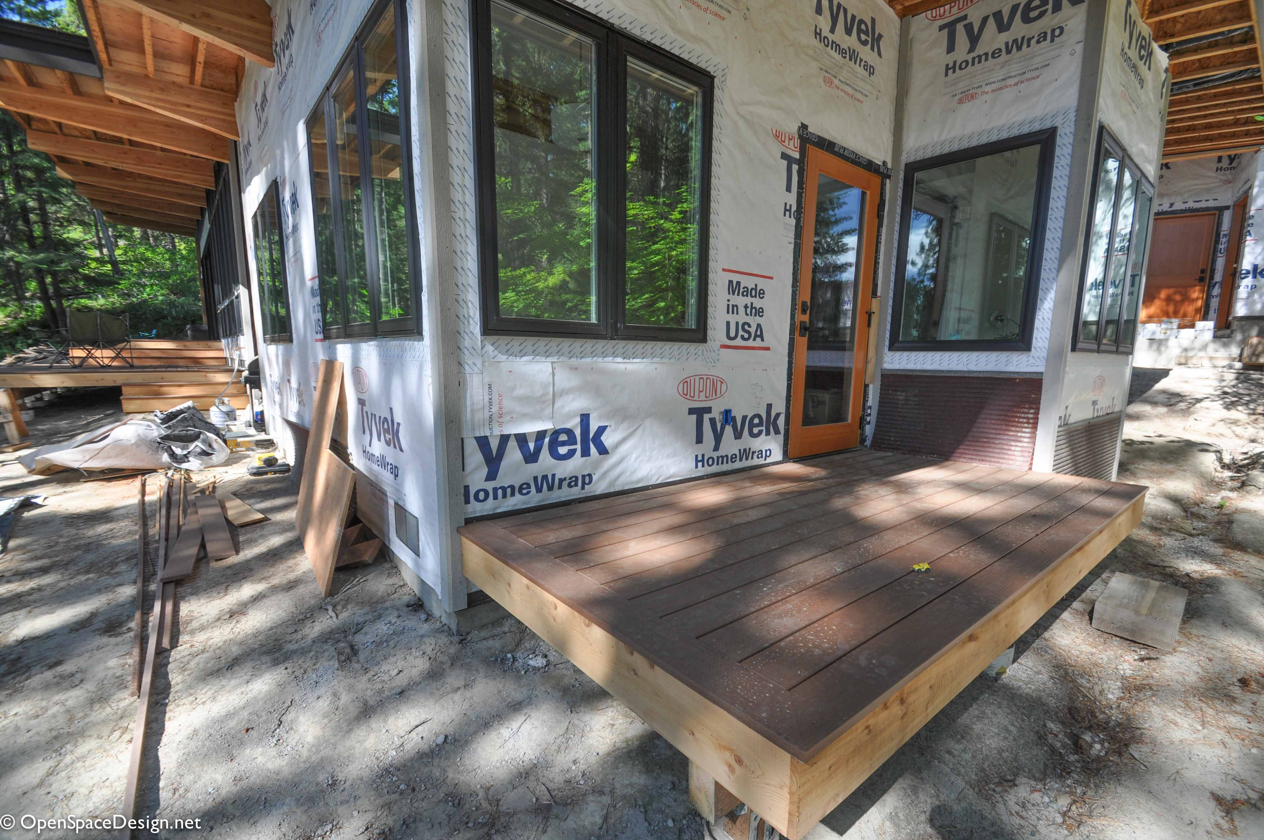 This little deck sits outside our master bedroom and will eventually have lounge chairs