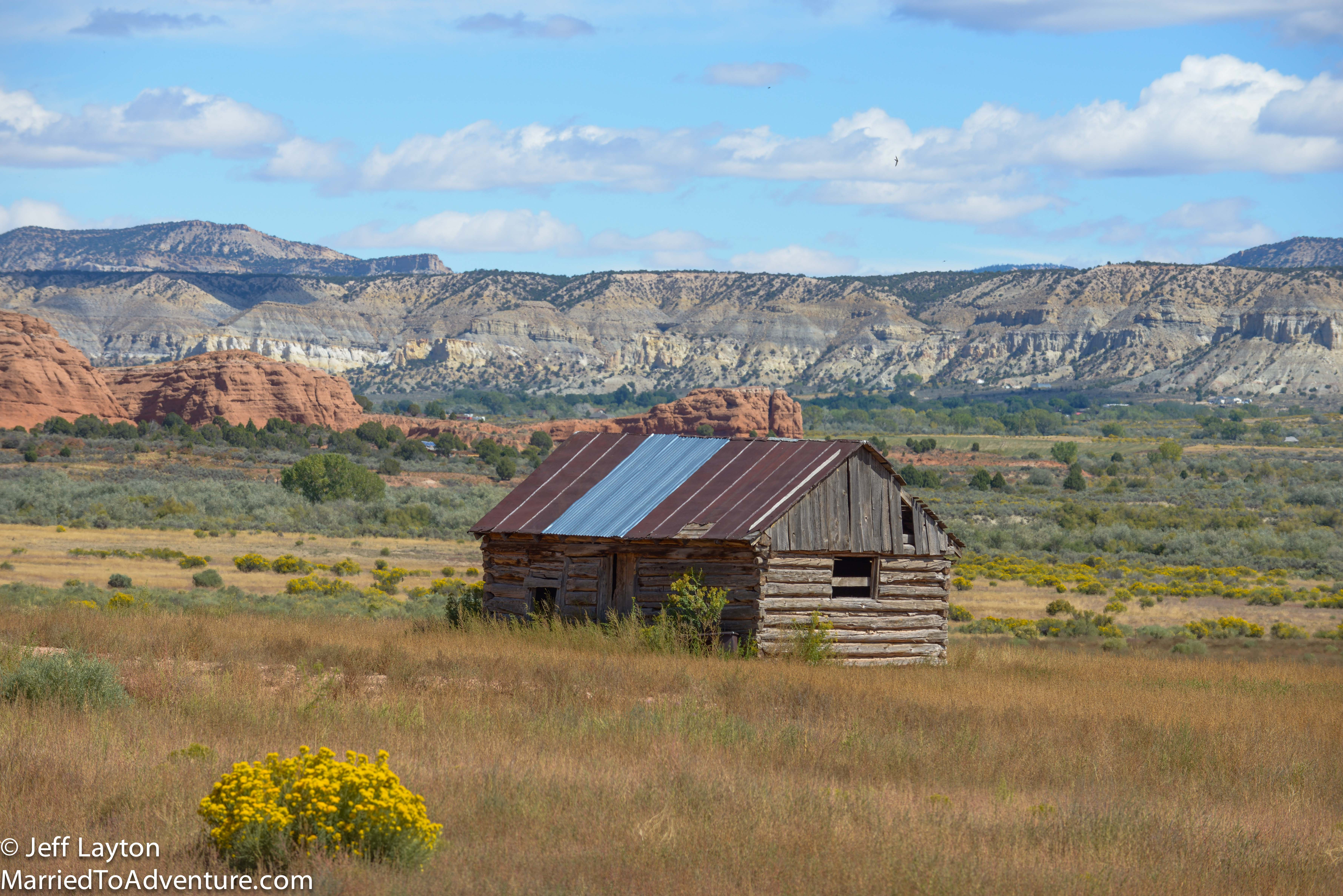 We saw this old structure about halfway between Bryce and Kodachrome