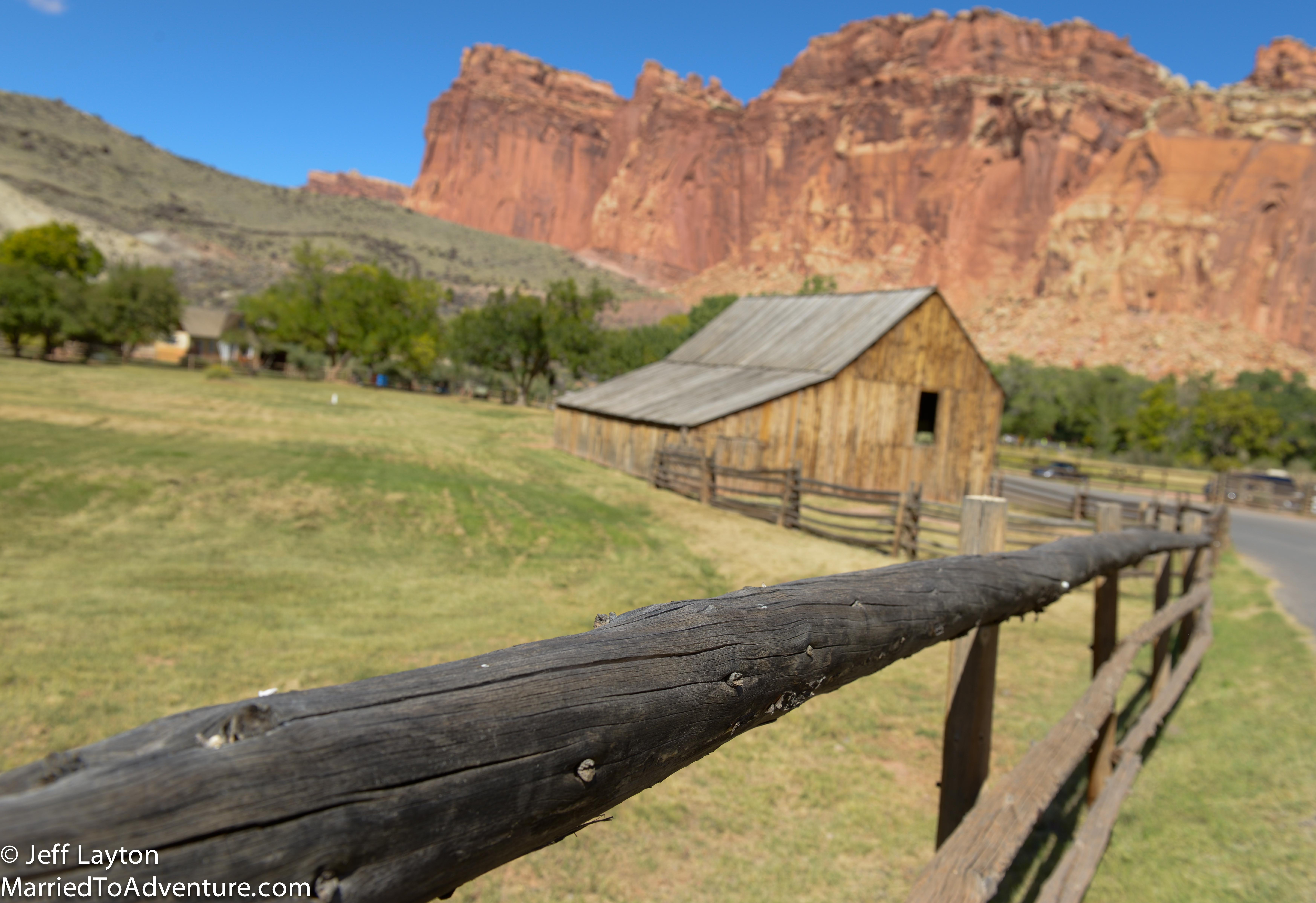 In the heart of Fruita - a Mormon pioneer settlement in Capitol Reef NP